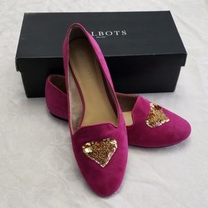 Talbots Ryan Novelty Flats in Raspberry